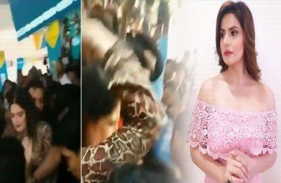 WATCH: Video of Zareen Khan beating a molester at an event goes VIRAL