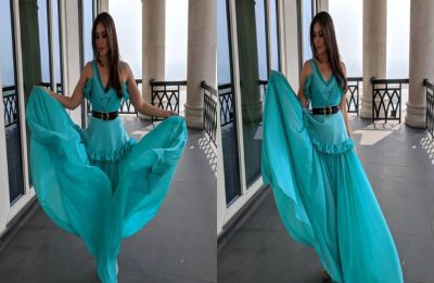Kareena Kapoor Khan twirls in a turquoise blue gown and we can't take our eyes off her