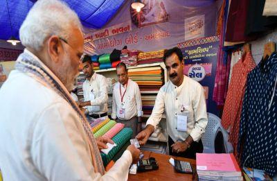 WATCH: PM Modi buys Khadi jacket at Amdavad Shopping Festival using RuPay card