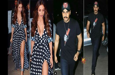 Malaika Arora looks sexiest as she goes on a dinner date with Arjun Kapoor sporting an epic moustache