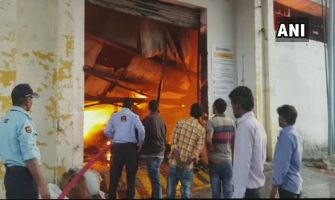 Massive fire at five-storey Traders Assembly building in south Kolkata
