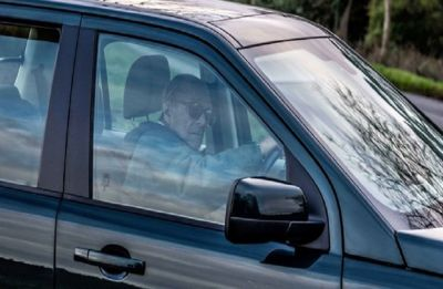 Prince Philip spotted driving without seat belts just two days after crash
