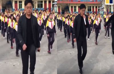 China school principal's cool dance moves is the best thing you'll see on the internet today