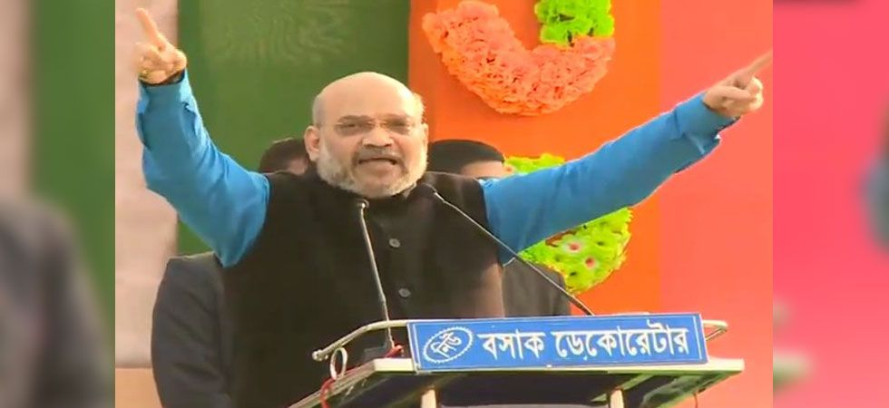 BJP president Amit Shah during Malda rally in West Bengal. (Photo: Twitter/@BJP4India)
