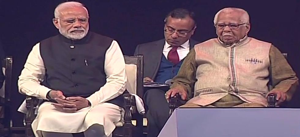 Prime Minister Narendra Modi and UP Governor present at the 15th Pravasi Bharatiya Divas. (Photo: ANI)