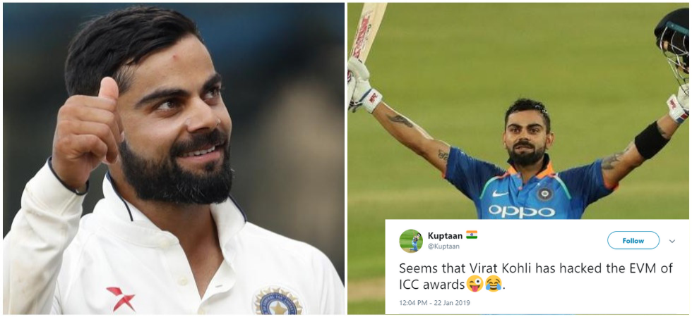 Following the announcement by the ICC, social media was flooded with congratulatory messages for Virat Kohli, and memes.