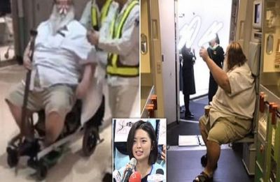 Flight attendant forced to wipe overweight passenger's bottom during flight from Los Angeles to Taiwan