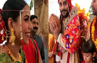 FIRST PHOTOS: Prateik Babbar and Sanya Sagar's wedding photos are what fairy tales are made of