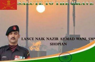 Terrorist-turned-soldier Lance Naik Nazir Ahmad Wani to be conferred with Ashok Chakra posthumously