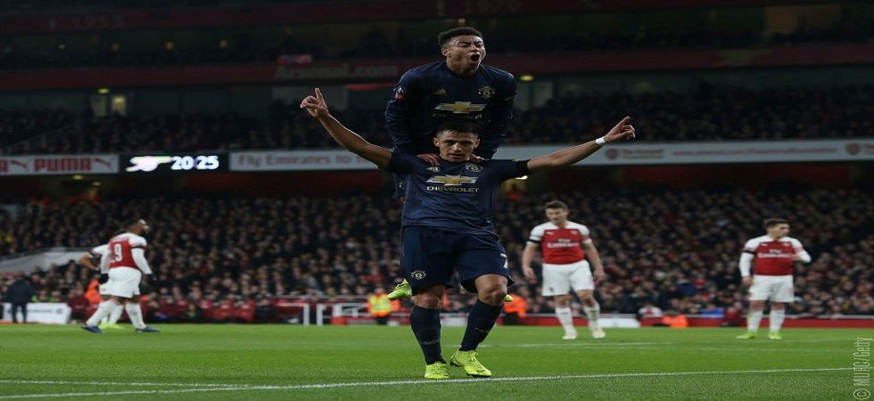 Alexis Sanchez, who was booed by Arsenal fans after leaving them hurt his former club in a big way as he helped Manchester United win 3-1. (Image credit: Manchester United Twitter)