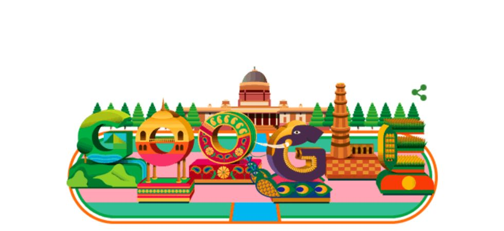 Google releases stunning doodle with Rashtrapati Bhavan on 70th Republic Day.