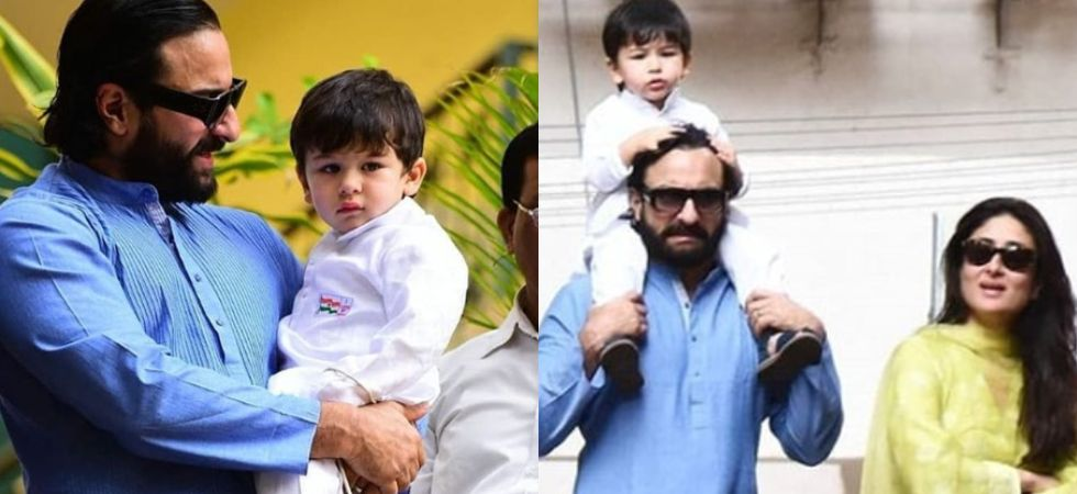 Taimur Ali Khan gives us perfect patriotic vibes as he attends flag hoisting with Saif and Kareena./ Image: Instagram