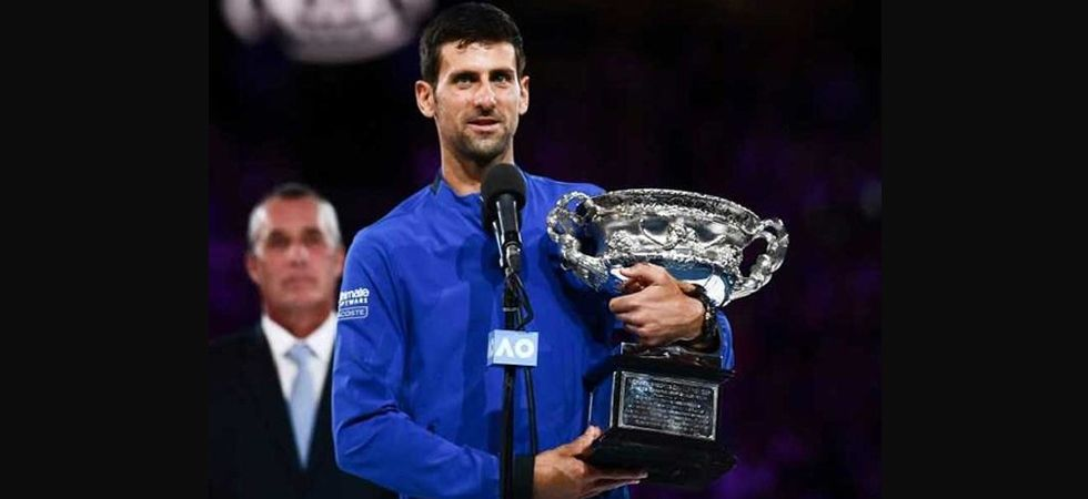 Djokovic has now completed a hat-trick of Slams following his wins at Wimbledon and the US Open.