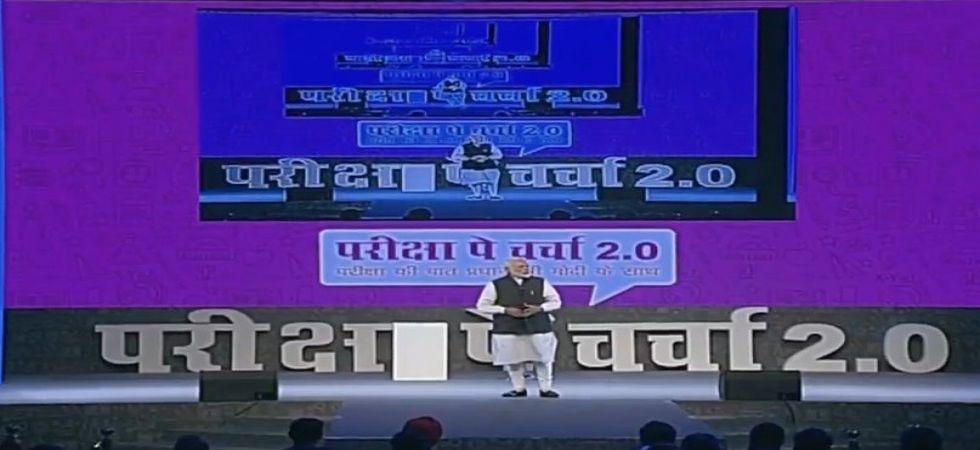 PM Modi during Pariksha pe Charcha. (ANI Photo)