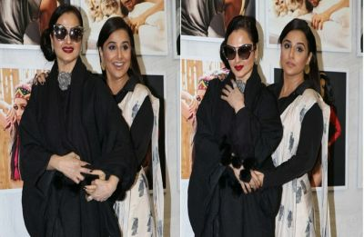 WATCH | Vidya Balan ALMOST suffers wardrobe malfunction after Rekha inadvertently pulls her saree's end