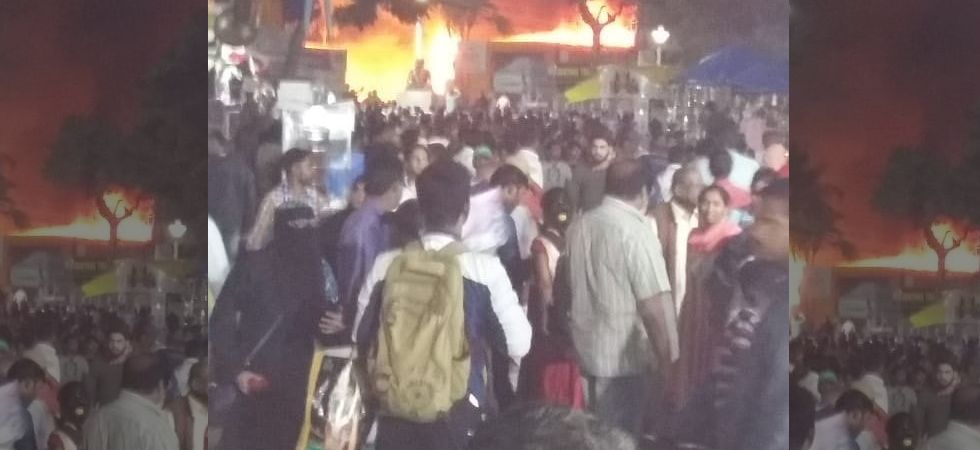Hundreds of shops were gutted in a major fire at the All India Industrial Exhibition