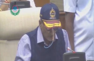 Ailing Goa Chief Minister Manohar Parrikar presents Budget in state Assembly