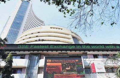 Ahead of Interim Budget 2019, Sensex surges over 350 points, Nifty at 10,747.30
