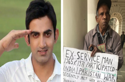 Gautam Gambhir shares picture of Army veteran begging in Delhi's CP, Defence Ministry assures 'quick' action