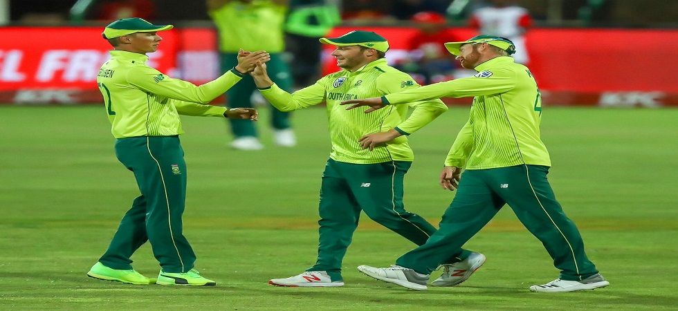 David Miller became the seventh player to take four catches in a Twenty20 Internationals during South Africa's match against Pakistan in Cape Town. (Image credit: Cricket South Africa Twitter)