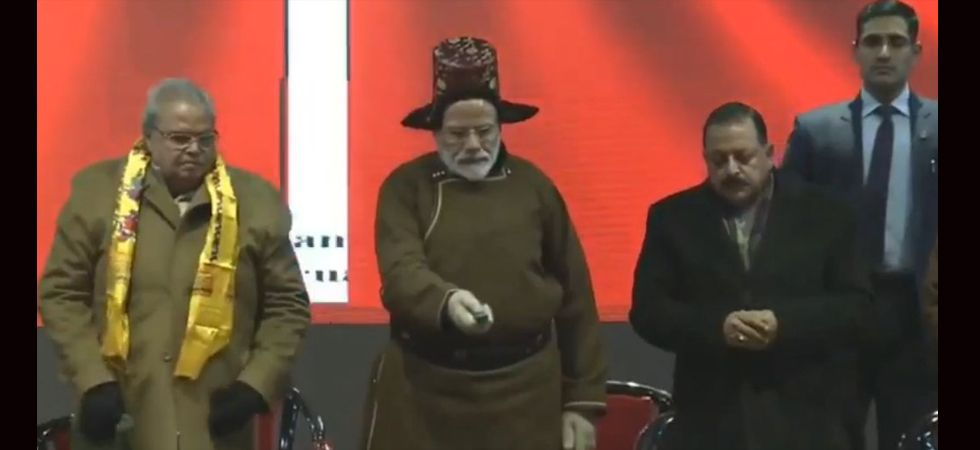 Prime Minister Narendra Modi lays foundation stones of many projects in the valley