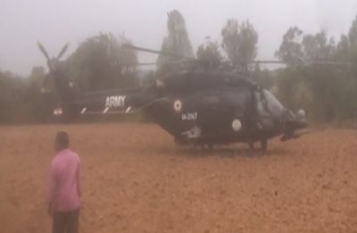Indian Army helicopter makes emergency landing in potato field near Bengaluru