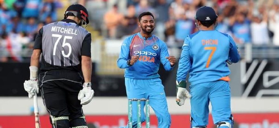 Krunal Pandya got three wickets as India won a Twenty20 International in New Zealand for the first time. (Image credit: Twitter)