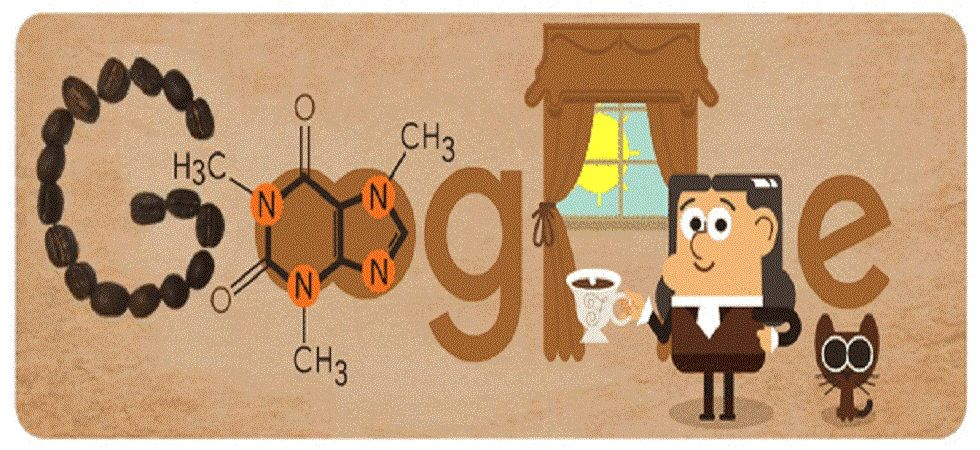 His work no doubt enabled the method of removing caffeine from coffee, allowing people the choice of getting a buzz on, or not. (Photo: Google Doodle)