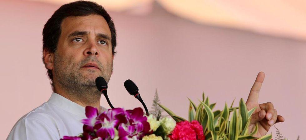 Rahul Gandhi mimics PM Narendra Modi during rally in Bhopal (Twitter)