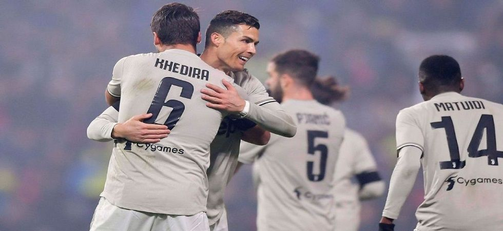 Cristiano Ronaldo slammed his 18th goal as Juventus won 3-0 to extend their lead at the top to 11 points. (Image credit: Twitter)