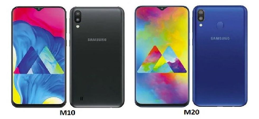Samsung Galaxy M10 is powered by Exynos 7870 SoC and comes with 2GB and 3GB RAM options while as Samsung Galaxy M20 is powered by Exynos 7904 SoC (Photo: Twitter@UpdatesJunction)