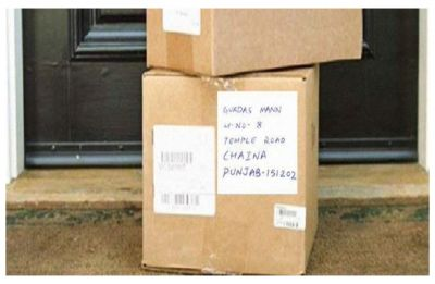 Woman writes parcel address to Chaina in Punjab, Chandigarh post office sends it to China instead