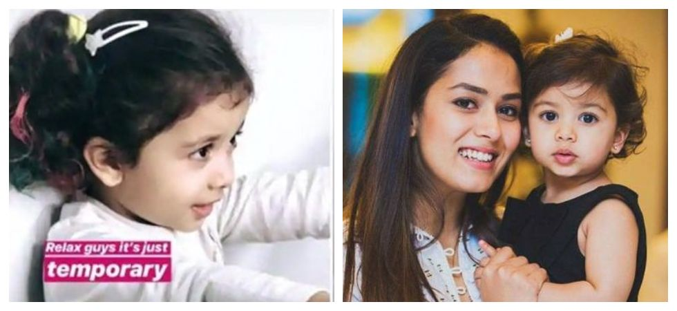 Mira Rajput trolled for colouring Misha's hair (Photo: Twitter)
