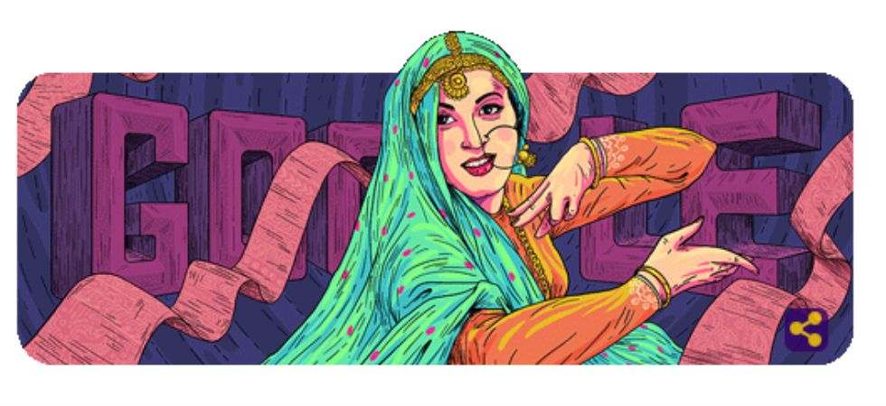 Google dedicated its doodle to the iconic actor of the Indian cinema, Madhubala.
