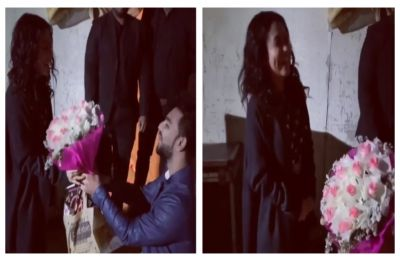 Neha Kakkar finds her Valentine in THIS man, as he got down on his knees with a bouquet