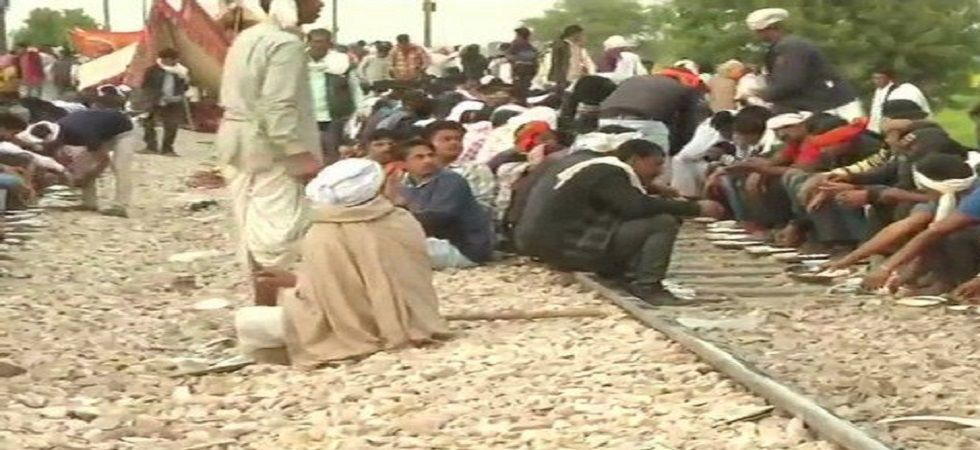 Gujjars continue to block rail tracks, highways on eighth day of agitation (Twitter)