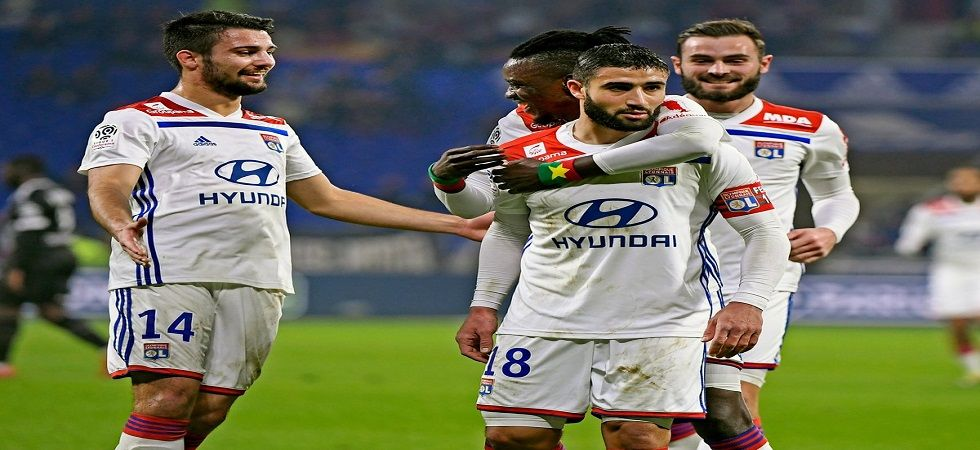 Nabil Fekir helped Lyon win 2-1 against Guingamp as they gear up for their clash against FC Barcelona in the UEFA Champions League. (Image credit: Twitter)