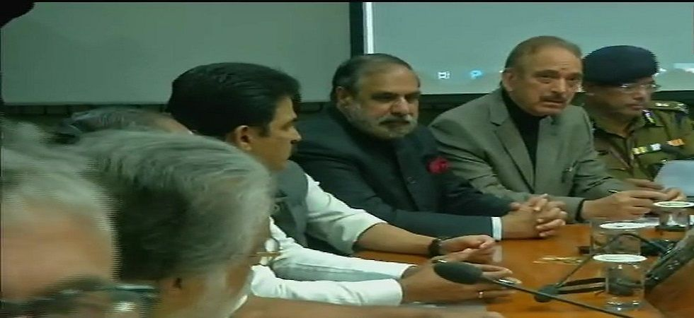 Home Minister Rajnath singh chaired the all-party meet in Parliament. (Photo: ANI)