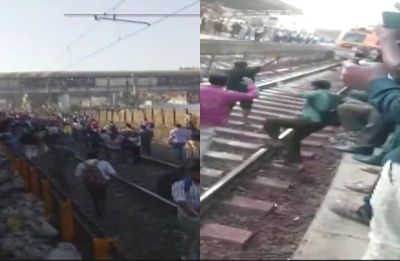 Pulwama terror attack: Protesters block rail tracks at Nalasopara for over 3 hours