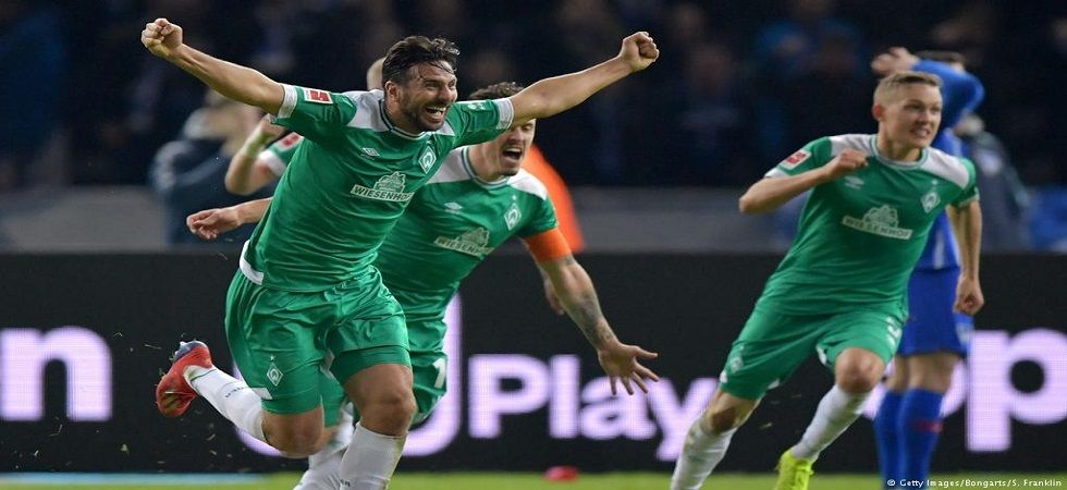 Claudio Pizaro has scored in 21 seasons of the Bundesliga and his goal for Werder Bremen came at the age of 40 years and 136 days. (Image credit: Twitter)