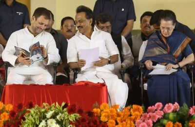 Congress-DMK come together to counter AIADMK-BJP alliance in Tamil Nadu
