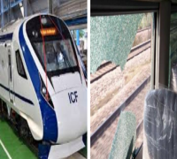 Vande Bharat Express again attacked with stones, third time in two months