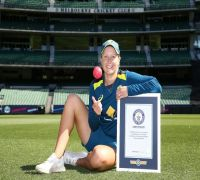 Watch – Alyssa Healy creates Guinness World Record for highest catch taken