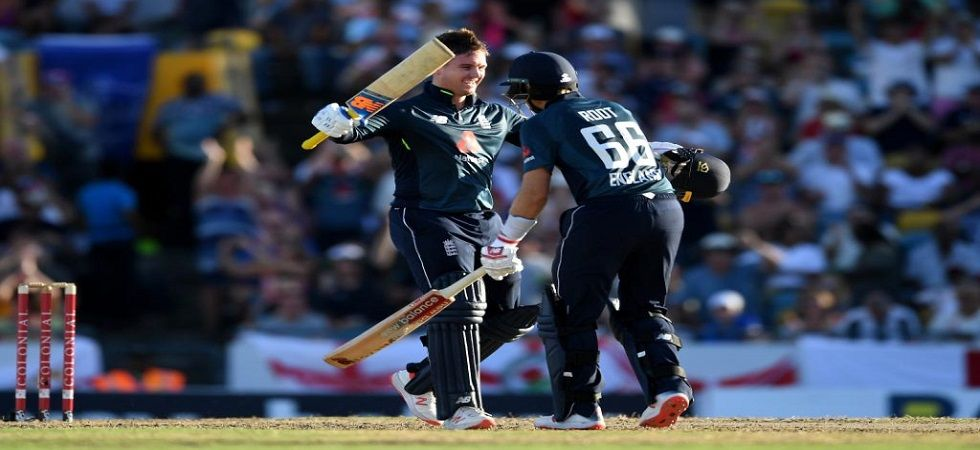 Jason Roy and Joe Root's centuries helped England chase down 361 against West Indies in Barbados. (Image credit: ICC Twitter)