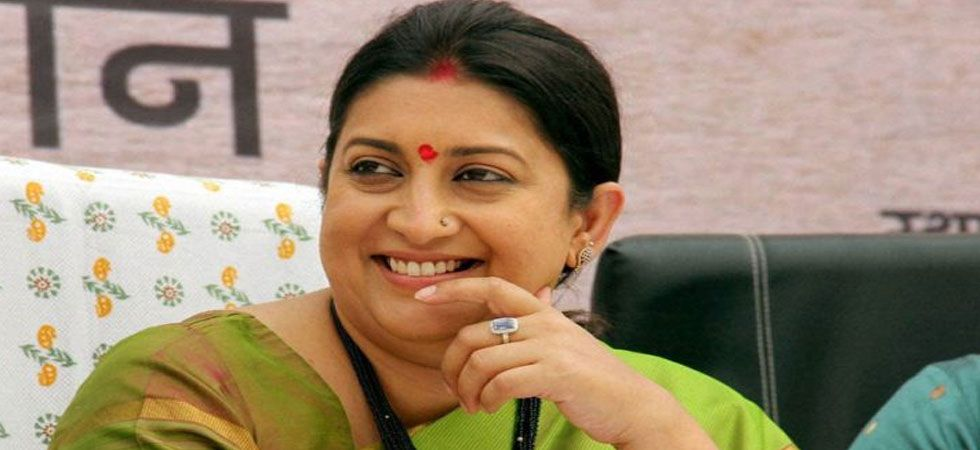 Smriti Irani was in Lok Sabha constituency of Prime Minister Narendra Modi on Wednesday to seek suggestions for the party's 'Bharat Ke Mann Ki Baat'. (File Photo: PTI)