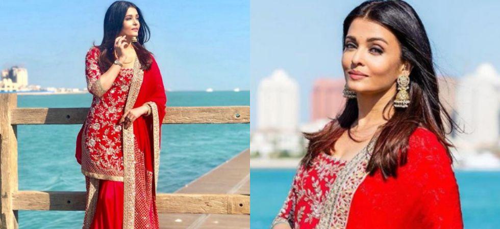 Aishwarya Rai Bachchan  is currently in Doha, Qatar for a bridal shoot./ Image: Instagram