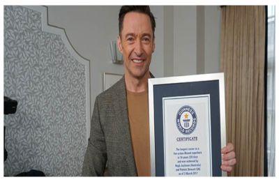 Hugh Jackman becomes Guinness World Records holder for 'Longest Career as a Live Action Marvel Superhero'