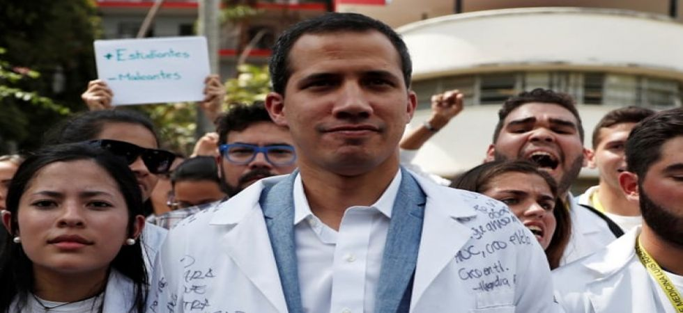 Juan Guaido, who has set a Saturday deadline for bringing in the aid, planned to depart at 6 am Thursday in a caravan of buses with members of the opposition-controlled National Assembly, forcing a high-stakes showdown with President Nicolas Maduro. (File