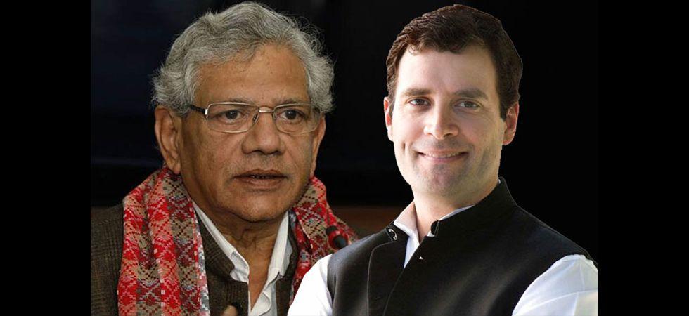 Rahul Gandhi and Sitharam Yechury