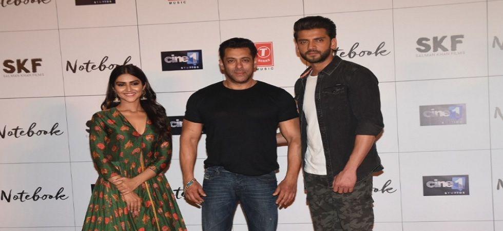 Salman Khan launches trailer of Zaheer-Pranutan starrer Notebook (file photo)